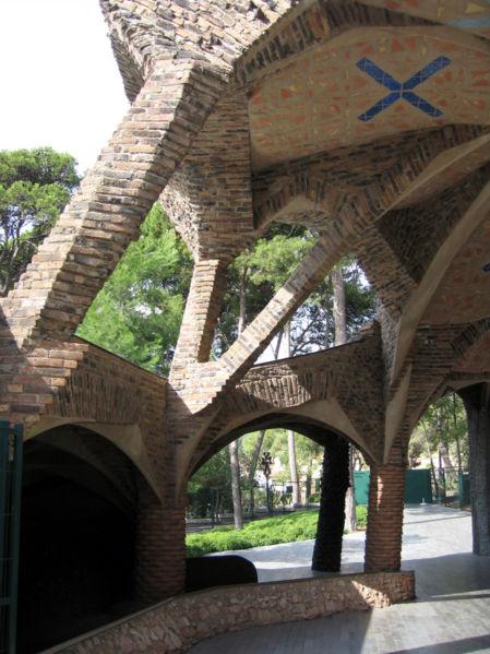 Cripta de la Colonia Guell in Barcelona by Till F Teenck
