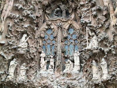 La Sagrada Familia facade in Barcelona by Montrealais