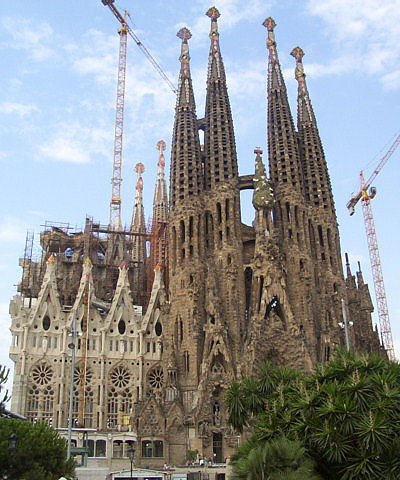 La Sagrada Familia in Barcelona, Spain ~ spectacular and  unfinished