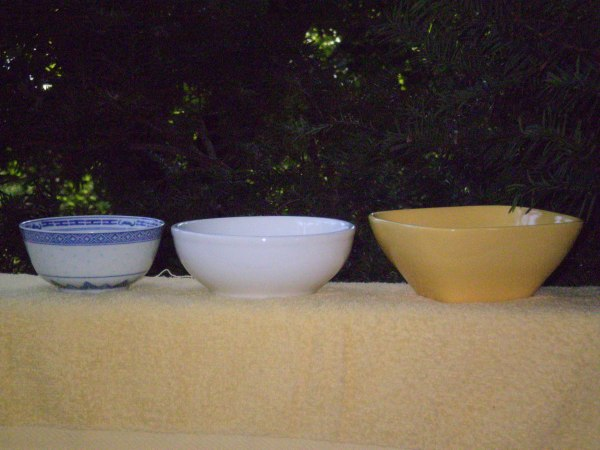 The Choicest Bowls come in Fancy Forms and Colors...