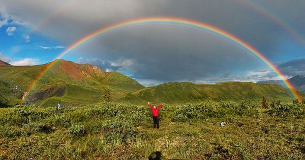 A magnificent Double Rainbow in Alaska by Eric Rolph