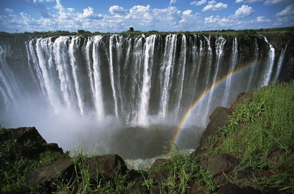 Rainbow over Victoria Falls, Zimbabwe by Zest_pk
