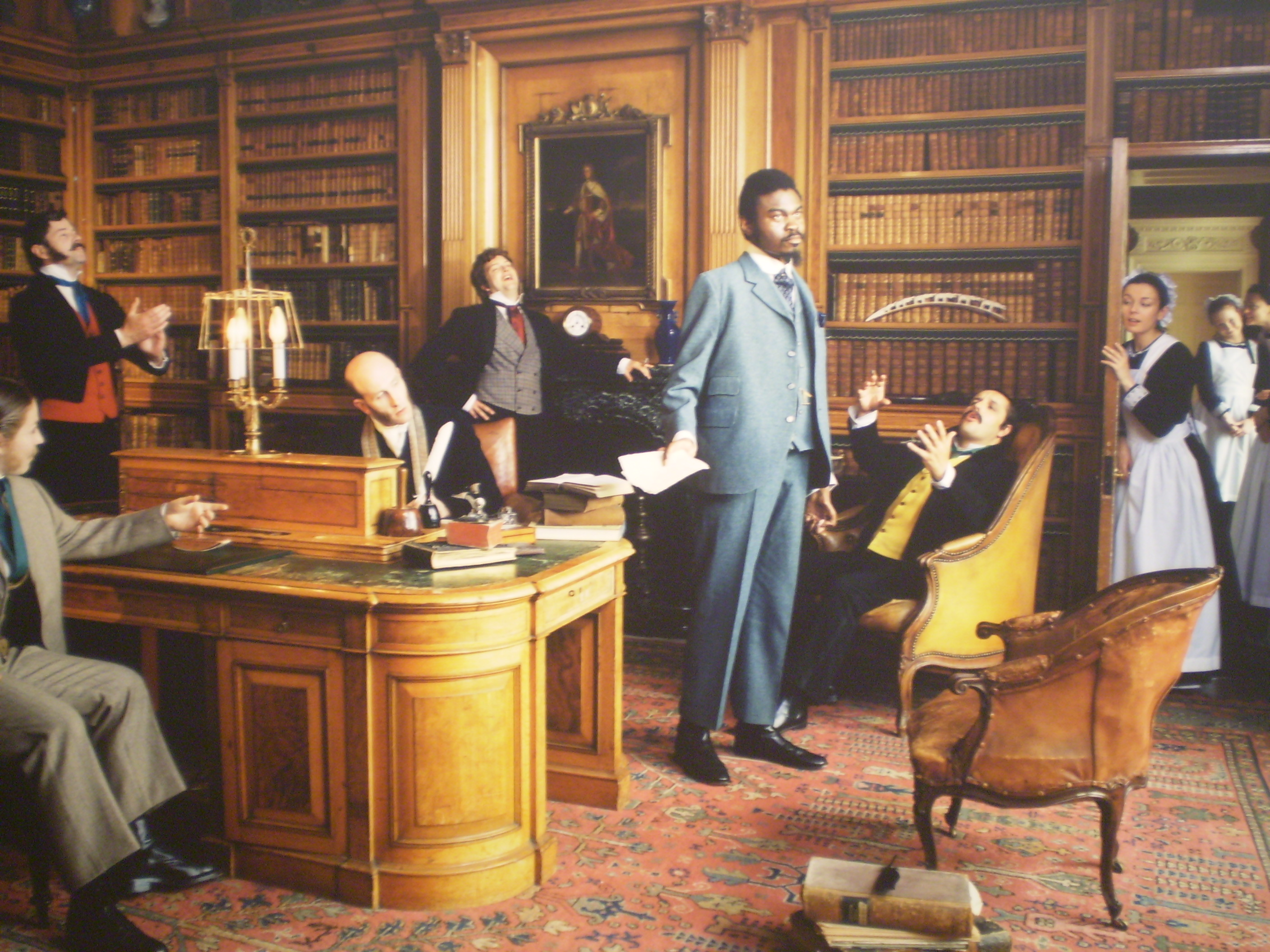 Yinka Shonibare, the artist, in a portrait in Diary of a Victorian Dandy
