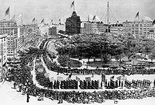 First Labor Day Parade in NYC - 1882