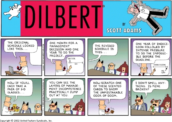 Dilbert: The Procrastinator at work...