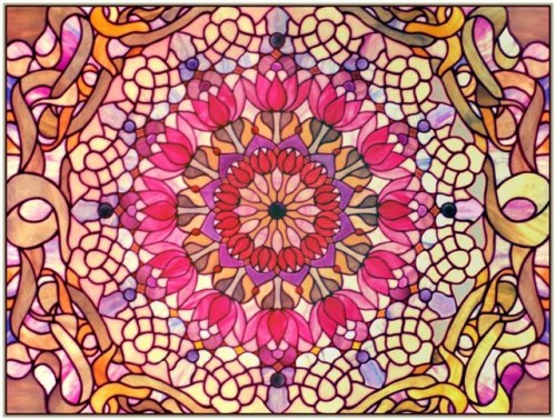 Glass Mandala lotus by Suki Quin