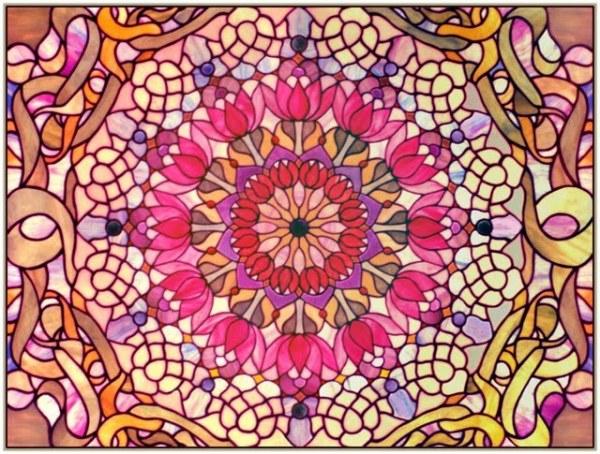 Glass Mandala lotus by Suki Quin
