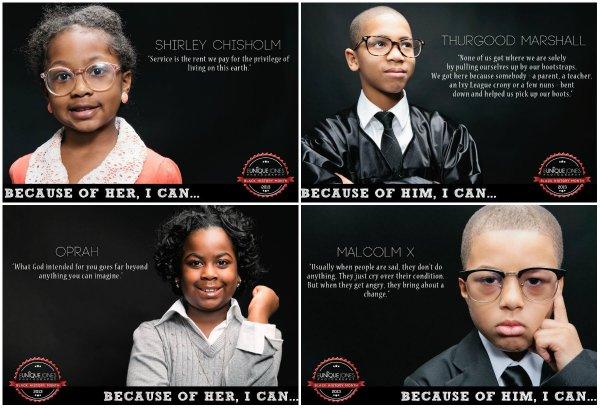 Black History Month: Eunique Jones Divine Transformations - Kids As Historic Icons