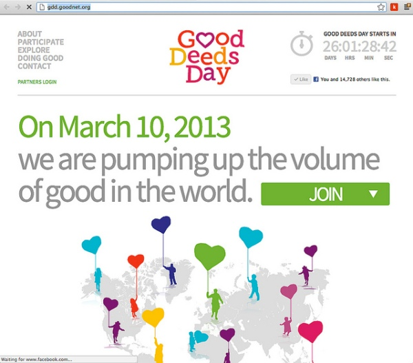 Inspiration: Celebrate Good Deeds Day