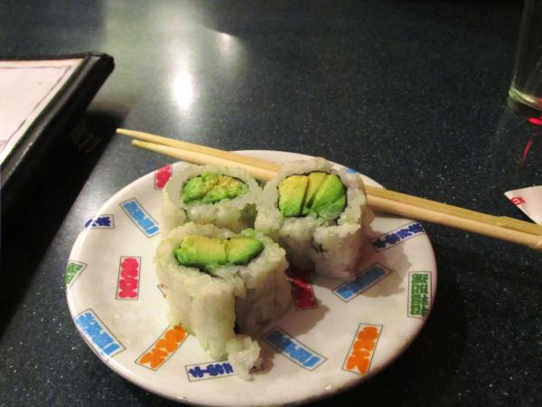 Weekly Photo Challenge: Lunchtime. Avocado roll