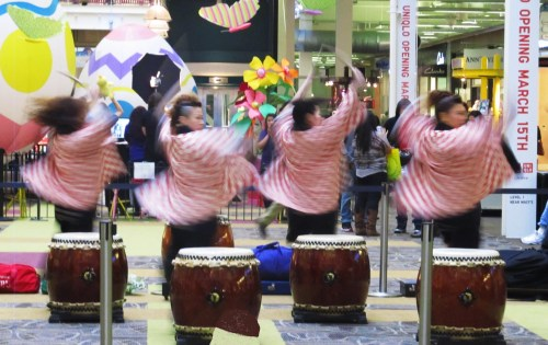 Weekly Photo Challenge: Lunchtime. Taiko performers