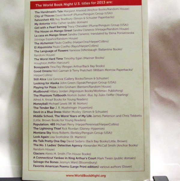 List of 30 donated books and their publishers