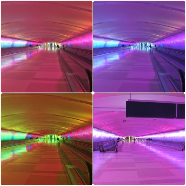 Weekly Photo Challenge: Light show at McNamara Terminal - Detroit Metropolitan Airport