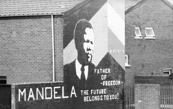 Nelson Mandela: Mural declaring him the Father of Freedom