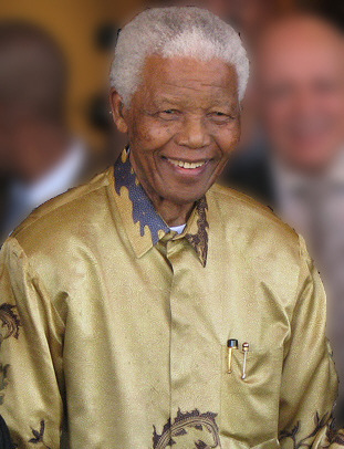Nelson Mandela: Taken in Johannesburg, Gauteng, on 13 May 2008 via Wikipedia