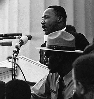 Dr. Martin Luther King giving I Have A Dream speech