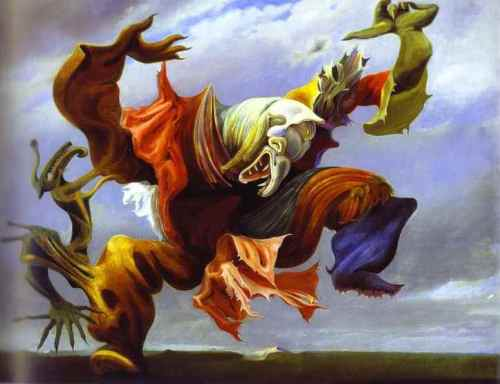 Haiku: Beware Of Anger... The monster within.                                             Painting is: L'Ange_du_Foyeur by Max Ernst