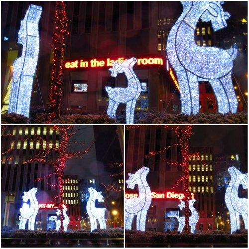 Weekly Writing Challenge: Haiku In Threes holiday lights deer