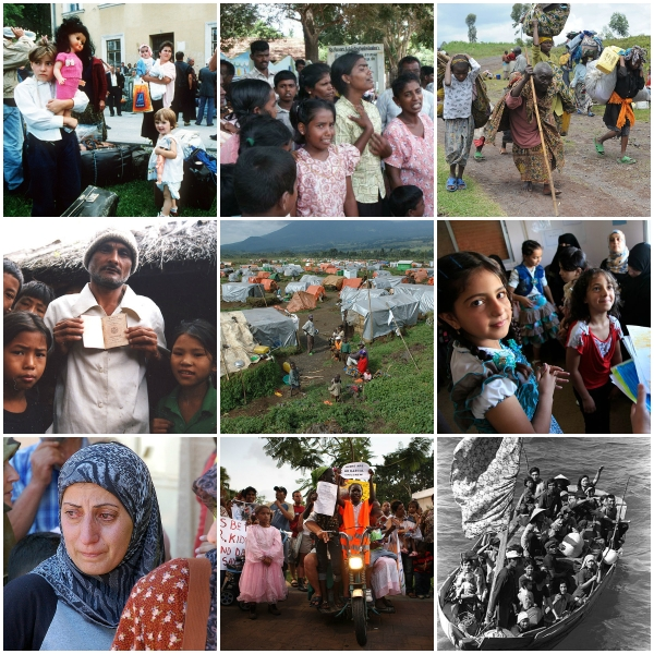 Haiku: Where Is Our Humanity? - Collage of Refugees worldwide