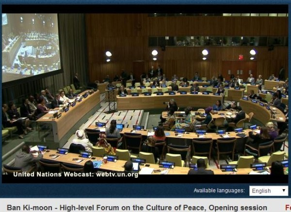 Reflections: UN Forum On The Culture Of Peace - General Assembly