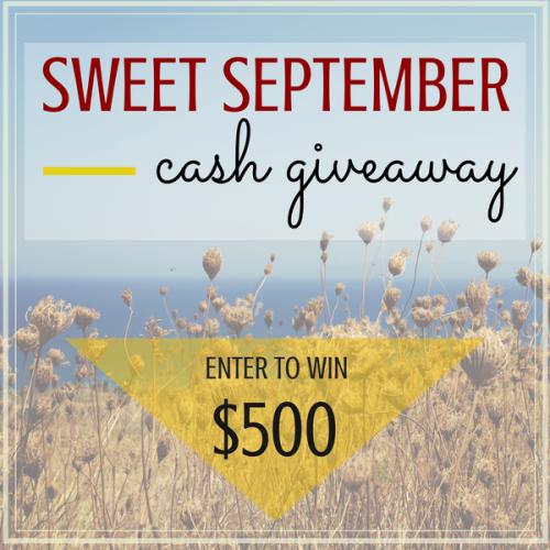 Sweet September $500 cash giveaway