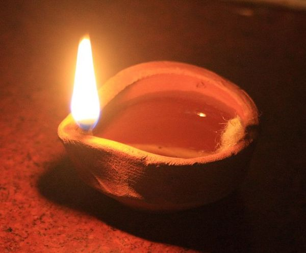 Writing Challenge: Tanka From A Grateful Soul  - Above; Diwali Oil Lamp