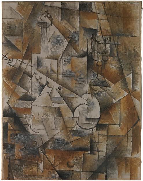 CUBISM: The Exhibition At The Met Museum - Still Life with Clarinet (Bottle and Clarinet) Georges Braque (French, Argenteuil 1882–1963 Paris) 1911