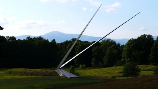 Weekly Photo Challenge: Angular - Wishbone outdoor sculpture/installation by Mark Handforth