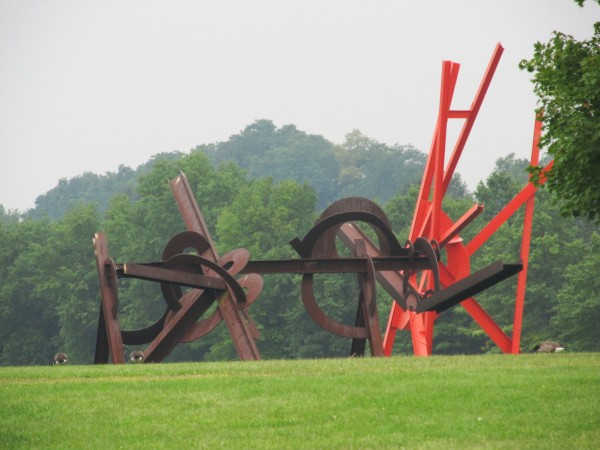 Weekly Photo Challenge: Angular -  Dual Installations at Storm King