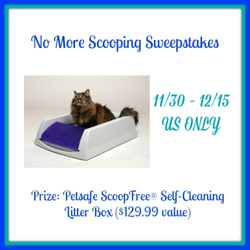 Cat Lovers: Enter No More Scooping Sweepstakes