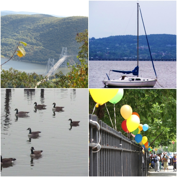 Weekly Photo Challenge: AFLOAT... bridge, a boat and ducks in a pond