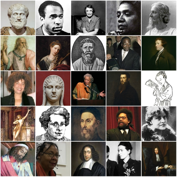Collage of Great Philosophers