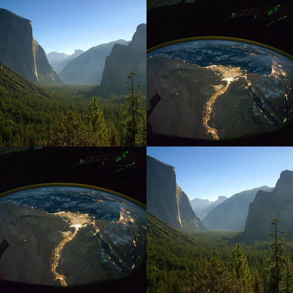 Flip-Flop: Are You A Night Or Day Person? - Yosemite at day & Nile River at night