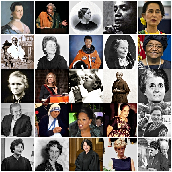 Women's Lives & Issues Matter - women's photo collage