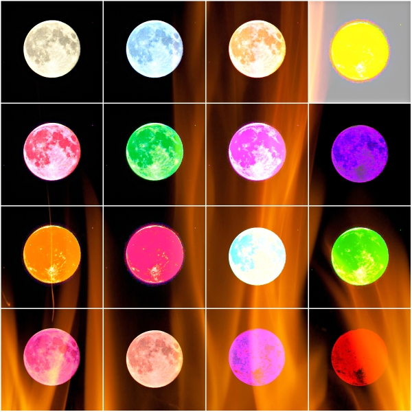 Weekly Photo Challenge: VIVID! Moon in vivid art phases.