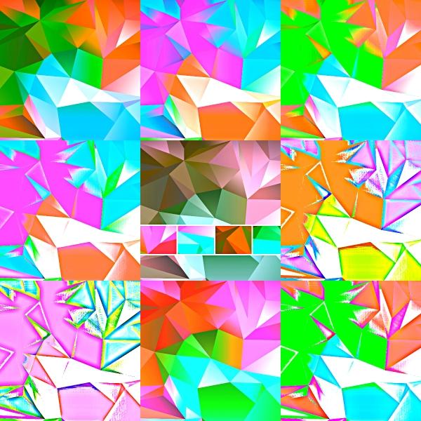 Weekly Photo Challenge: VIVID! Kaleidoscopic vivid art