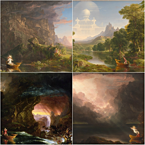 Motivation Mondays: TIME - Thomas Cole : Voyage of Life from Childhood to Old AgeMotivation Mondays: TIME - Thomas Cole : Voyage of Life from Childhood to Old Age