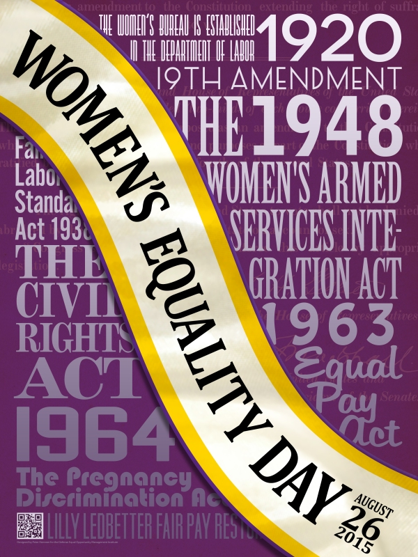 Haiku: Thanks For Sharing! - Celebrate Women's Equality Day - Poster via Defense Equal Opportunity Management Institute