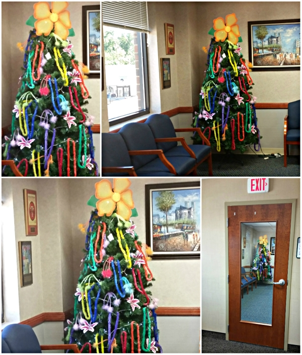 Weekly Photo Challenge: From Every Angle - Summer Xmas Tree In a waiting room