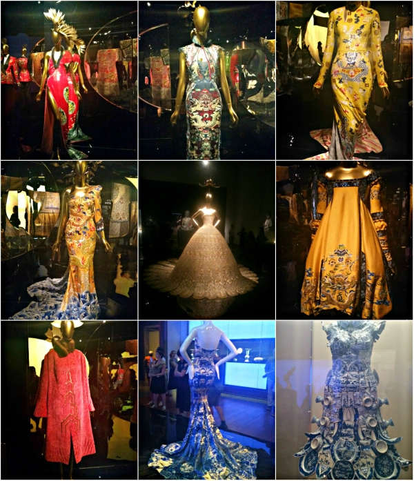 China: Through The Looking Glass - An Epic Exhibition - Met Museum - Collage of some haute couture designs by both East & West Designers