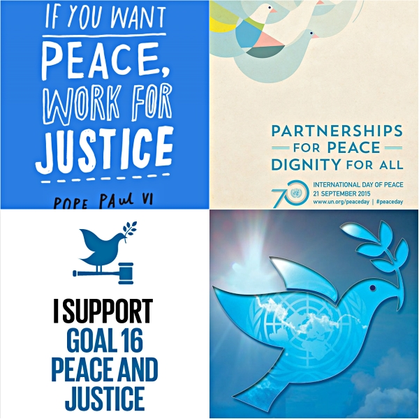 Motivation Mondays: Partnerships For Peace - Peace Collage