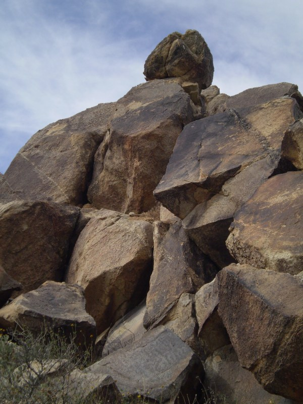 Weekly Photo Challenge: BOUNDARIES - Rock formation at Joshua Tree National Park