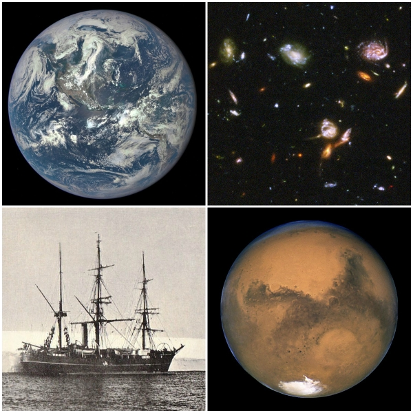 Motivation Mondays: DISCOVERY - Our planet Earth, Mars, Expedition ship Discovery, Hubble Outer space, dreams and beyond