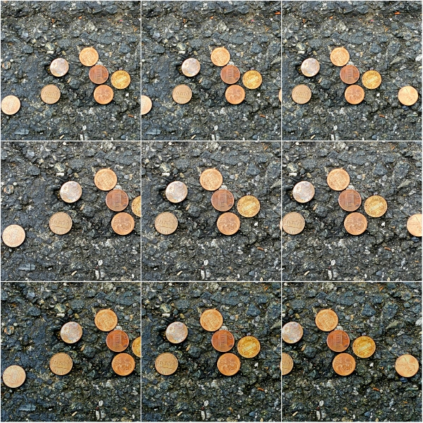 Reflections: Pennies From Heaven - 8 lucky pennies found on the ground
