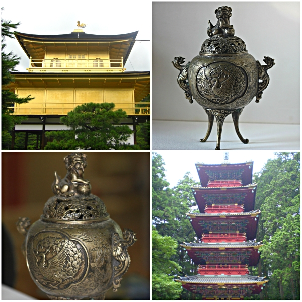 Weekly Photo Challenge: ORNATE - Ornate buildings in Japan & old Chinese incense holder
