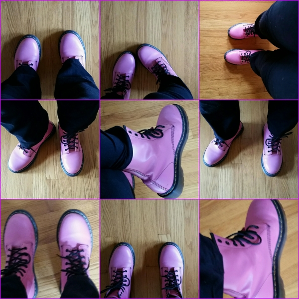Haiku: A Third Rate Romance ... Pink boots exit the cafe