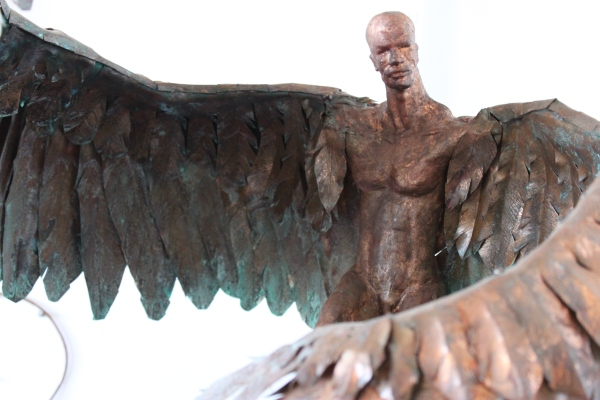 Weekly Photo Challenge: WEIGHT(LESS) - Man w/ wings cast in Bronze