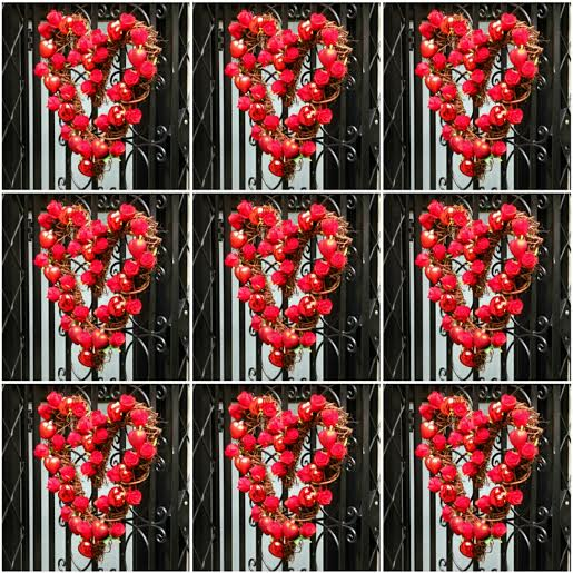 Weekly Photo Challenge: One Love ... a garland of roses left on a Manhattan gate