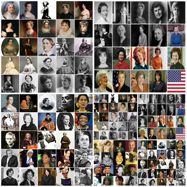 Motivation Mondays: Women's History Month - Collage of US First Ladies & Other Women of Note