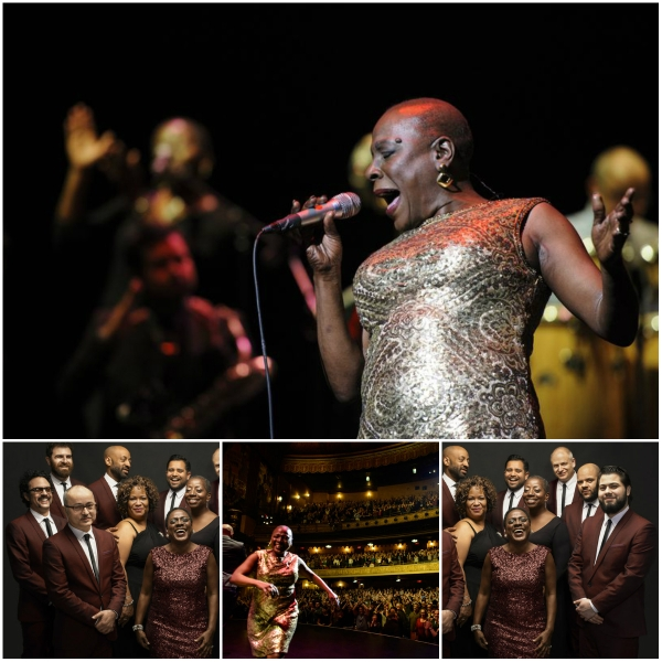 Miss Sharon Jones! – A Review - Collage of Sharon and the Dap Kings performing at the Beacon Theater NY. Credits: (Jacob Blickenstaff/Abramorama/Starz Digital)